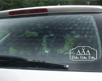 Delta Delta Delta Car Decal