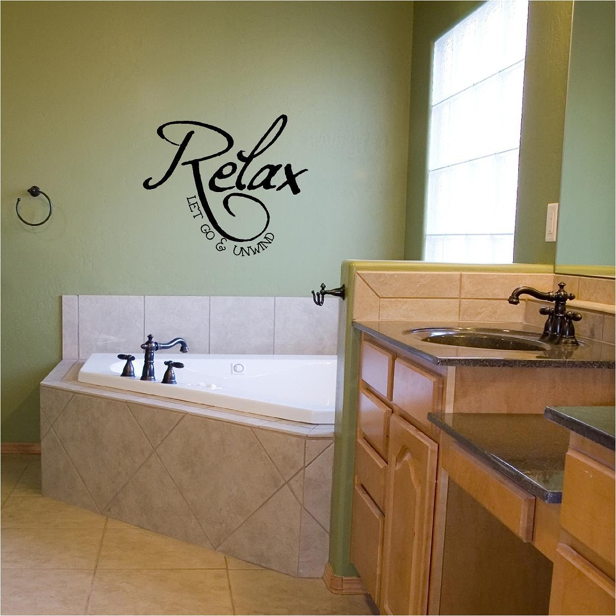 Relax Let Go  Unwind Vinyl Wall Decal - Wall decals relax