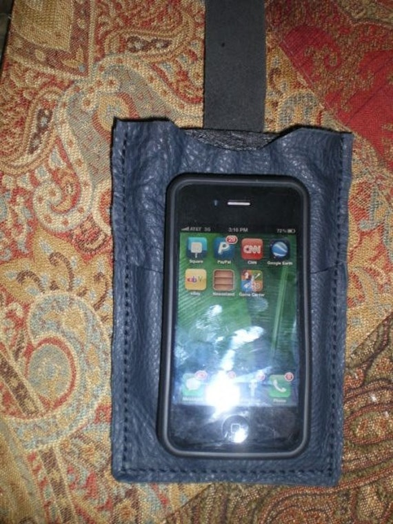 reserve for David  custom made leather iPhone case with credit card slot on front