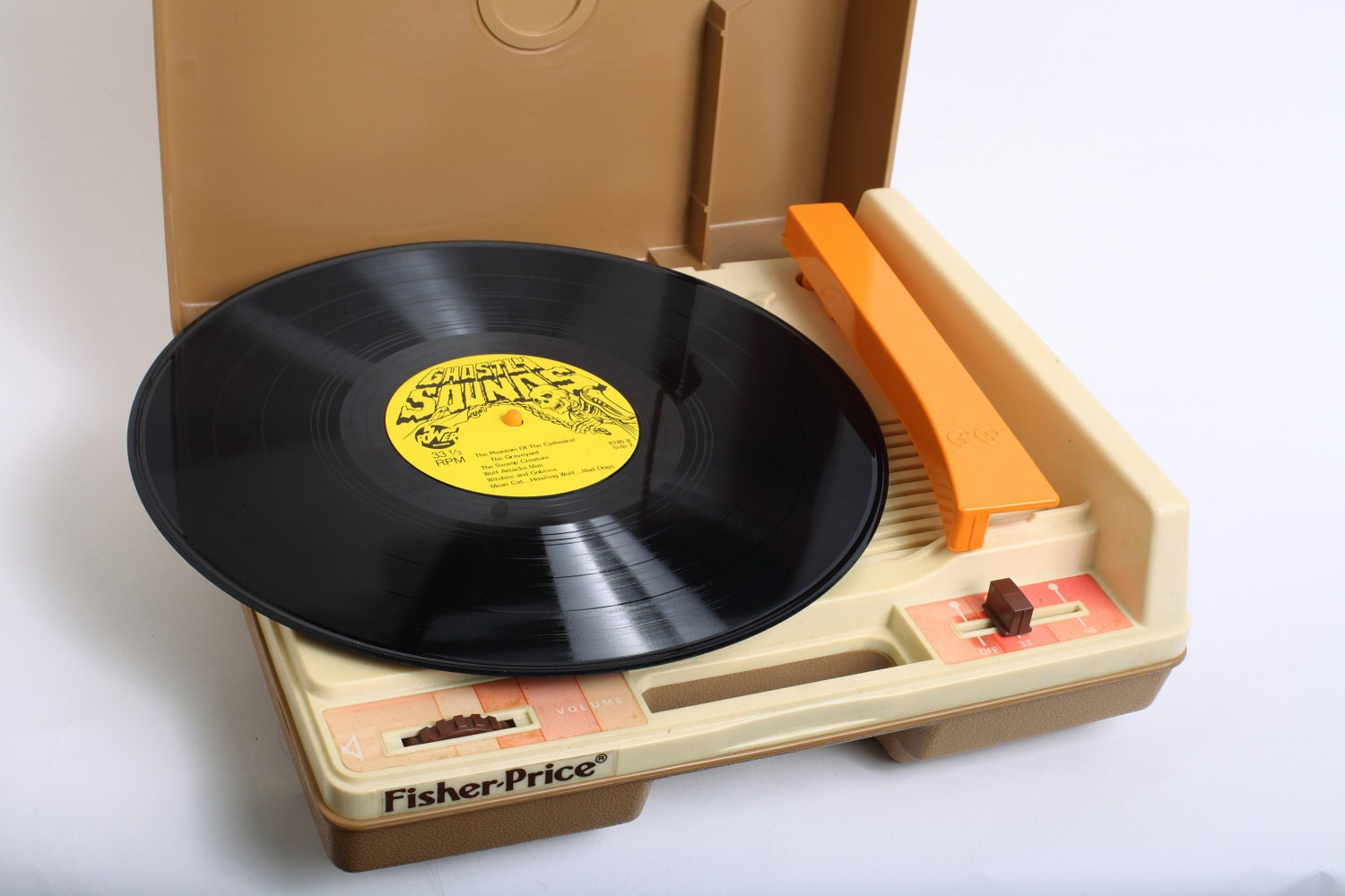 Vintage 1970s Fisher Price Record Player In Orange