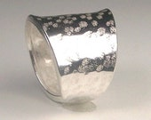 Contemporary Re enforced Adjustable Sterling Silver  Band Order your own size  Free US Shipping