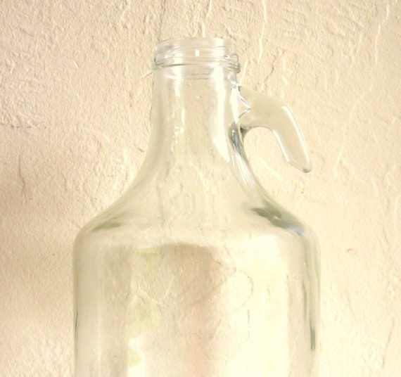 Large Clear Glass Vintage 1 2 Gallon Bottle Jug With Handle
