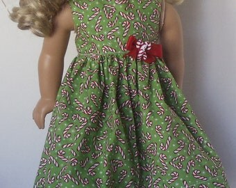 American Girl Doll Clothes - Candy Cane Dress