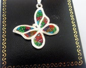 Astonish 925 Sterling Silver Butterfly Millefiori pendant  Chain by Orly Kliger