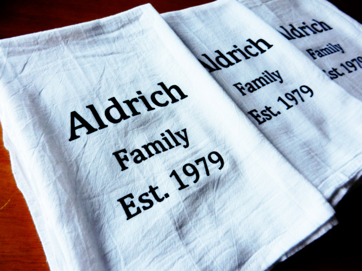 Personalized Kitchen Towels Custom Tea By Moderncottagemarket