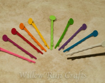 200 Pack Colored Bobby Pins with 8mm Glue Pad, Colored Hair Pins  (07-34-702)