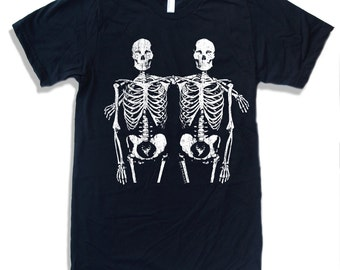 Mens SKELETONS american apparel T Shirt S M L XL (16 Colors Available)
