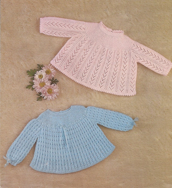 Knitting Pattern Angel Top : PDF Knitting Pattern Baby Patterned Angel Top/Dresses to fit