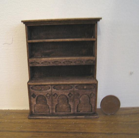 SALE  Hutch, or Kitchen dresser,   Tudor, ,  Half Scale Dollshouse Miniature