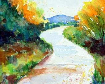 Mountain Trail Watercolor Print