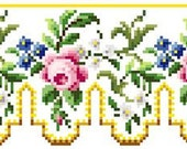 Sajou rose panel 2 - Cross stitch pattern . Instant download PDF