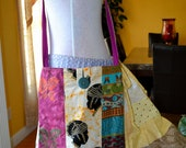Batik African wax Print  Gypsy Hippie Patchwork Bag