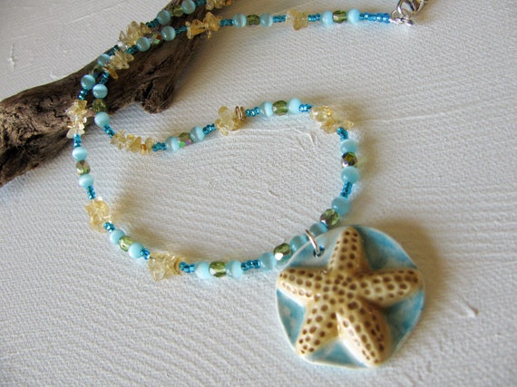 Reserved for Marsha Starfish Necklace