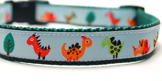 Custom Dog Collar - Dino and Friends