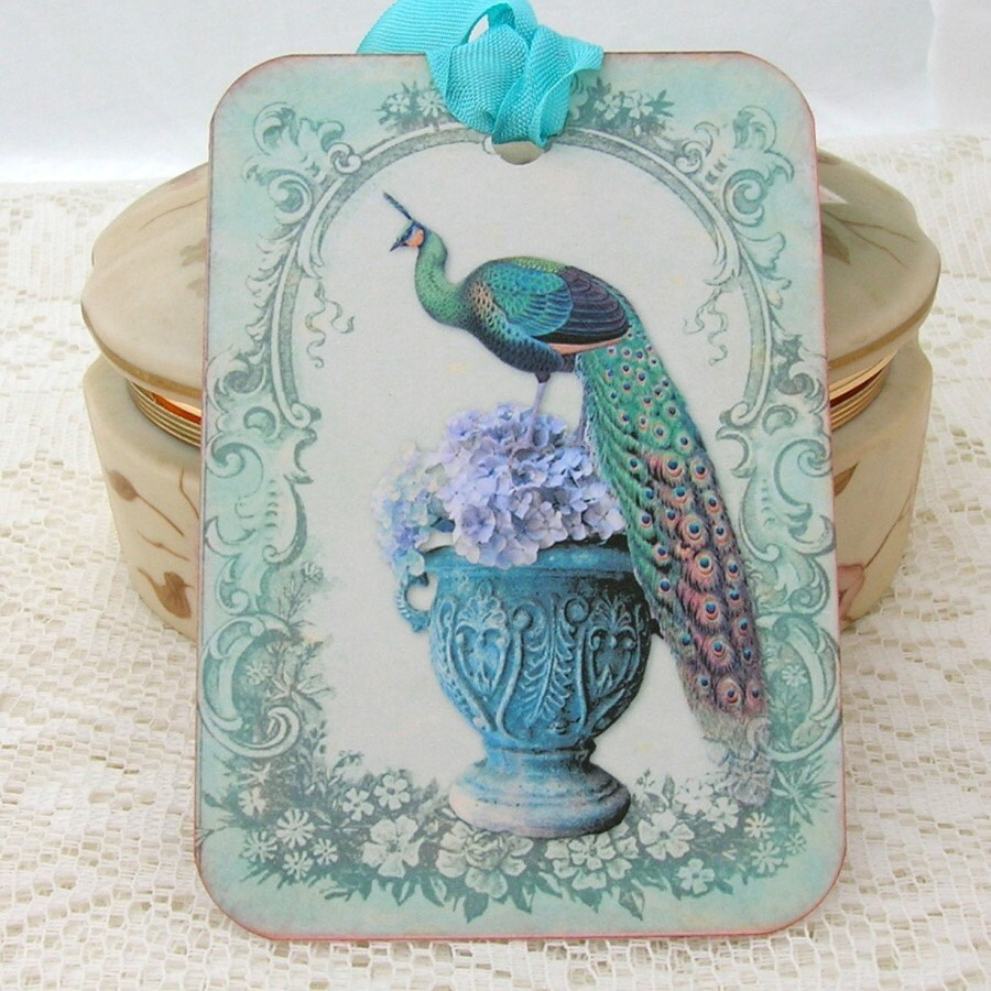 Peacock Wedding Gifts: Tags Peacock Gift Hang Bridal Shower Tea By EnchantedQuilling