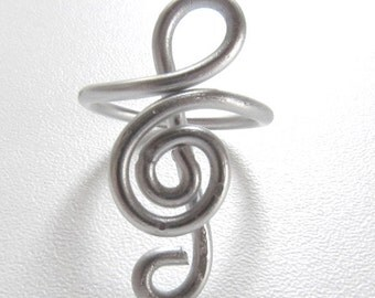 Treble Clef Adjustable Ring