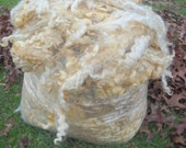 Natural White Rare Leicester Longwool Fleece