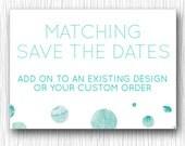 Custom Save the Date Cards - Printable Wedding Stationary 5x7