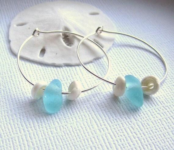 Seaside Seaglass Jewelry Puka Earrings