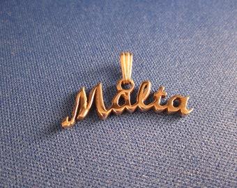 Malta silver pendant / charm