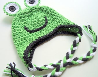Baby Frog Hat, Crochet Frog Hat, Infant Frog Hat, MADE TO ORDER