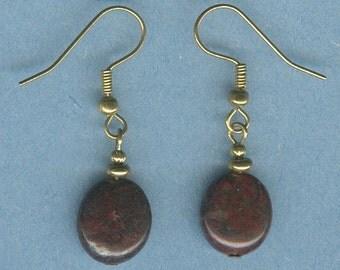 Breciated Jasper Gemstone Earrings