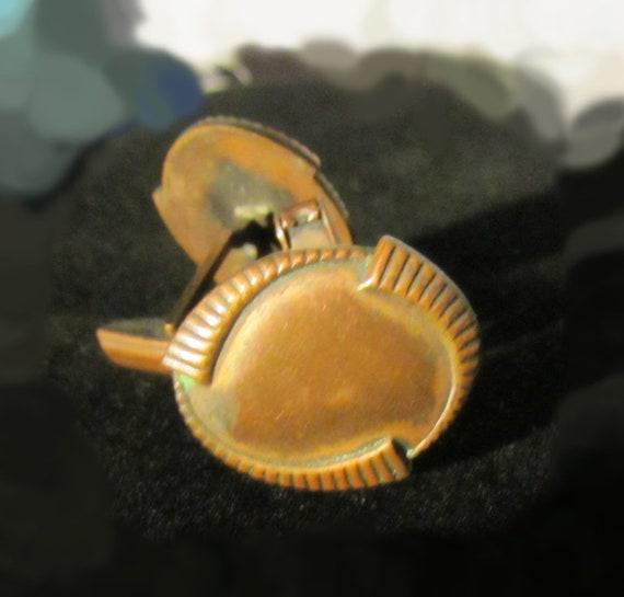 Copper Cufflinks - Vintage Antique Arts and Crafts