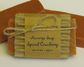 Spiced Cranberry Cold Process Soap