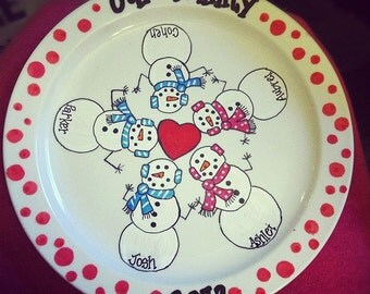 Hand Painted Christmas Plate