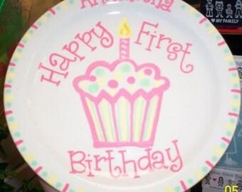 First Birthday Plate