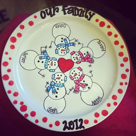 Items similar to Hand Painted Christmas Plate on Etsy