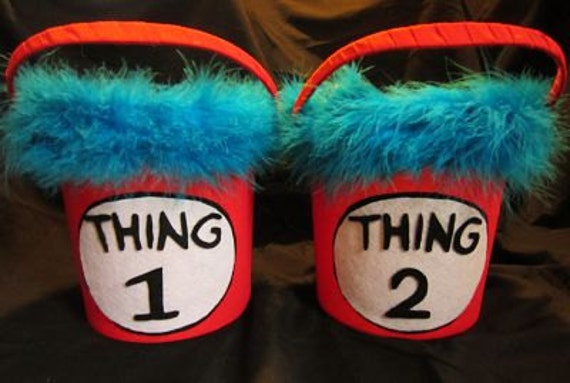 Thing 2 Trick-or-Treat Candy Pail m2m Costume or Tutu - Price is for 1