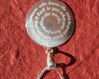 A true Friend Necklace Sterling silver