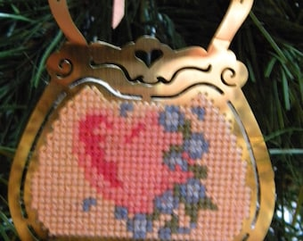 Cross Stitch Purse Ornament