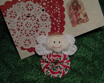 Christmas Angel Pins on Christmas Cards