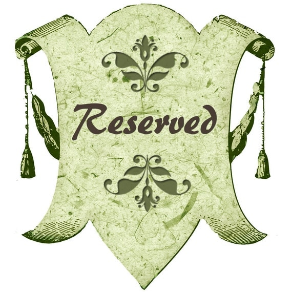 Reserved for Susann