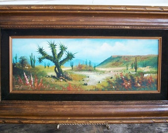 Oil Painting Desert Scene by D. Noreno - ReDuCeD