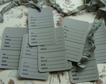 One Dozen Vintage Style Price Tags for Altered Art