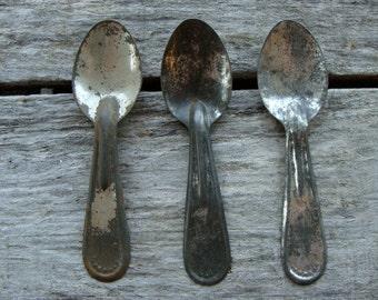Vintage Metal Antique Tin Metal Ice Cream Spoon