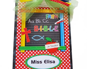 Christian Teacher Clipboard Personalized Rulers