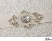 Wedding sash, bridal sash for brides and bridesmaids, satin ribbon with rhinestone crystal beaded applique, custom colors