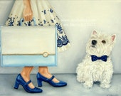 She Traveled in Style . . . . .5x7 Fine Art Giclee Print by LARA Dog Puppy