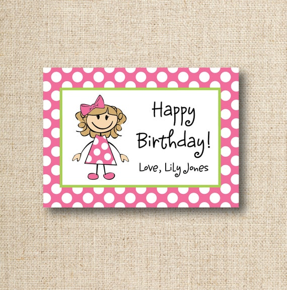 Children's enclosure cards / gift tags, pack of 24