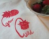 Grow wild-wild strawberries teatowel