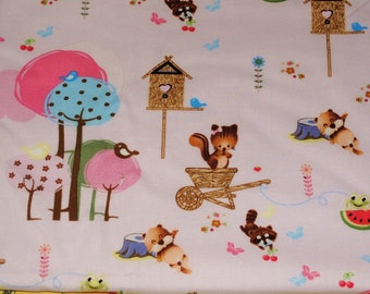 Fat Quarter Cute Forest Critters Fabric