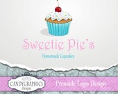 Premade Logo Design - Cute Cupcakes