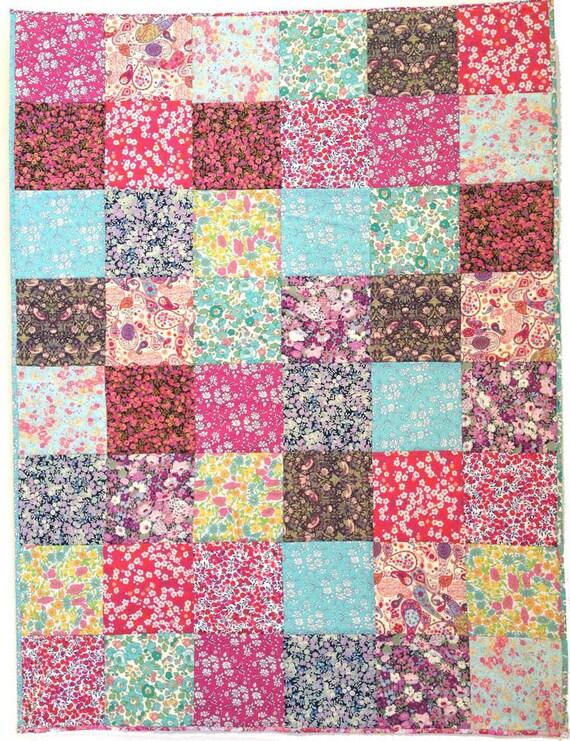 Patchwork Cot Quilt Top Kit Liberty Fabric