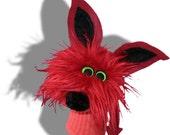 Furry Red Monster Sock Puppet
