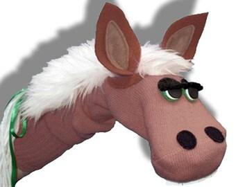 Handmade Horse Donkey Pony Sock Puppet