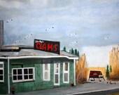 Jersey Shore-Blacky's(original)-SIGNED PRINT 11 x 14